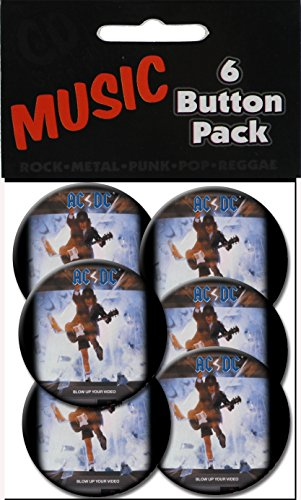 "C&D Visionary AC/DC Blow Up Video 1 1/2"" Button (6-Piece)"