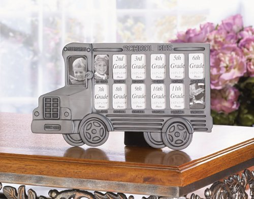 4 School Bus Photo Frames