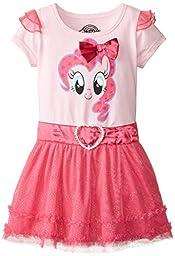 My Pony Girls\' My Pony Pink Dress, Light Pink/Hot Pink, 3T