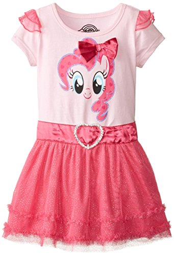 My Little Pony Little Girls' My Little Pony Pink Dress, Light Pink/Hot Pink, 5/6