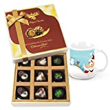 Well-seasoned Treat Of Assorted Chocolates With Christmas Mug - Chocholik Luxury Chocolates
