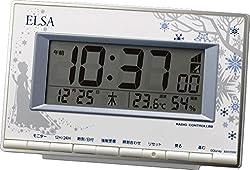 アナと雪の女王(リズム時計) おとなディズニーシリーズ【エルサELSA】の電波デジタル時計 8RZ133MC04
