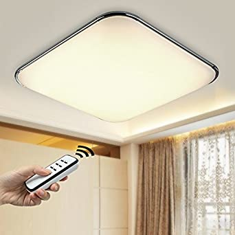 natsen moderne led deckenlampe wandlampe deckenleuchte silber i503y 30w voll dimmbar. Black Bedroom Furniture Sets. Home Design Ideas