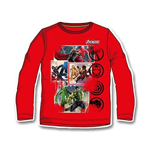 Marvel Avengers Maglia T-Shirt Maniche Lunghe Bambino - Age of Ultron - Novità Prodotto Ufficiale - HO1480 [10 anni - 140 cm - Rosso]
