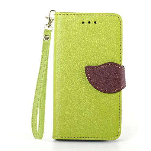 Samsung Galaxy Core I8262 Case, IVY Green - Leaves Magnetic Snap Series Wallet Card Flip Synthetic Holster Leather Stand With Lanyard Case Cover Skin For Samsung Galaxy Core GT-I8260 I8262