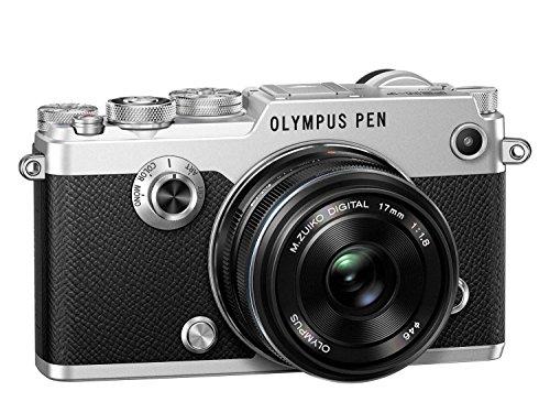 Olympus-PEN-F-Fotocamera-Argento-con-Obiettivo-EW-M1718-Nero