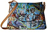 Snoogg Colorful Graffiti Street Paint Designer Womens Carry Around Sling Bags