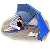 EasyGo BrellaTM -The Ultimate 2 in 1 Umbrella Shelter - Works as a Sport or Beach Canopy Tent - Opens in 5 Seconds!!! 100% Satisfaction Guaranteed