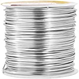 Mandala Crafts® Colored Aluminum 18 Gauge Jewelry Making Beading Craft Wire, 100 Ft (Silver)