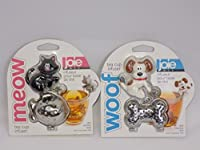 Joie Dog 'Woof' & Black Cat 'Meow' Tea Cup Infuser Bundle
