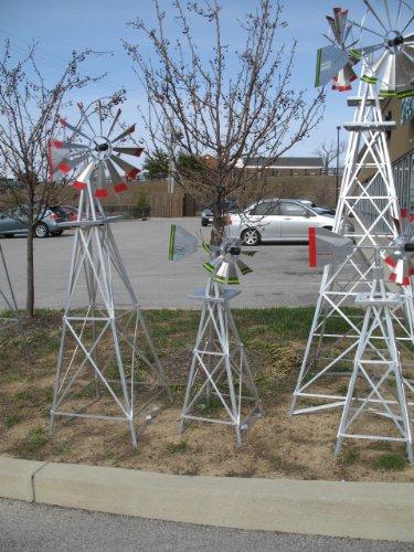 ... 6 Ft Made In The USA Premium Aluminum Decorative Garden Windmill Green  Trim
