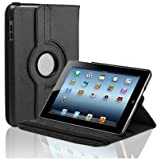 ECellStreet 360° Degree Rotating 10 Inch Flip Cover Diary Folio Case With Stand For Apple IPad Air 2- Black