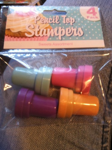 Pencil Top Stampers 4 Pack (Designs Will Vary)