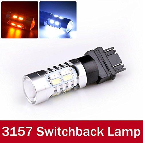rexul (TM) 2 x 3157 p27/7 W Ampoule LED Ambre Blanc Jaune double couleur la piste Tour signaux Lampe de frein de voiture Auto Lampe LED 20 SMD 5630