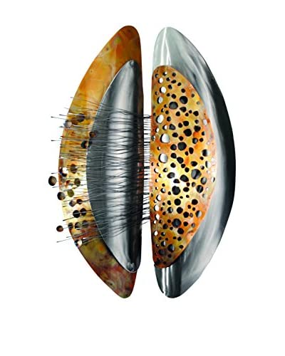 C'Jere By Artisan House Organic Stainless Metal Wall Installation, Multi