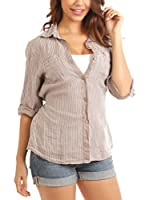 Maison du Lin Camisa Mujer E17 Athenes R (Taupe)