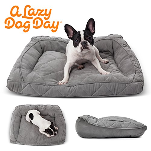 A-Lazy-Dog-Day-Hundebett-Hang-Loose-in-grau-aus-weichem-Stoff-fr-kleine-Hunde-Edles-Hundesofa-Hundecouch-in-Anthrazit-fr-zB-Bulldogge-Jack-Russel-Mops-Yorkshire-Chihuahua-Dackel