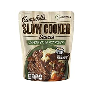 Campbell's Slow Cooker Sauces, Tavern Style Pot Roast with Mushrooms and Roasted Garlic, 13 Ounce (Pack of 6)