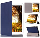 【ShineZone】Apple ipad Pro 専用保護ケース 超薄型 高級PUレザー・三つ折・スタンド機能 (ブルー)