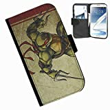 Hairyworm-Teenage Mutant Ninja Turtles Samsung Galaxy Note 2 leather side flip wallet cover case for Samsung Galaxy Note 2 phone