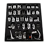Leegoal 32Pcs Sewing Machine Presser Foot Set For Janome Brother Singer Domestic Part US