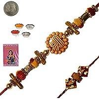 Indiangiftemporium Send Beautiful Raksha Bandhan Beads Rakhiee Rakhi Raksha Bandhan Gift Band Moli Bracelet Wristband...