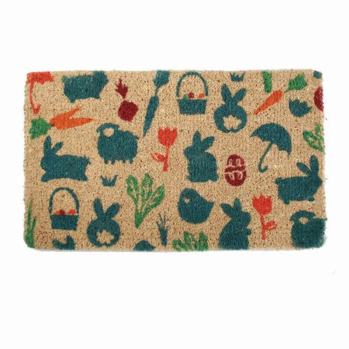 Seasonal Spingtime Rabbit 30 X 18 Inch Coir Doormat Arts
