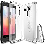 Nexus 5X Case, Ringke FUSION ** Shock Absorption Technology** [FREE Screen Protector][CRYSTAL VIEW] Anti-Scratch Clear Back Drop Protection Bumper Case for Google Nexus 5X 2015 (NOT for Nexus 5 2013)