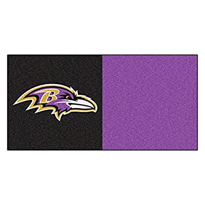 FANMATS NFL Baltimore Ravens Nylon Face Team Carpet Tiles