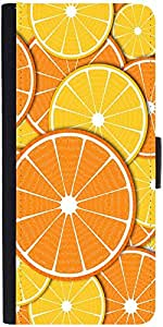 Snoogg Orange Fever 2372 Graphic Snap On Hard Back Leather + Pc Flip Cover So...
