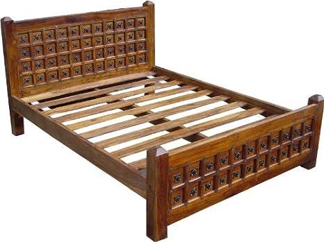 Kolonialstilbett R871 in 3 Größen / Betten/ Variante: Größe: 200*160 cm