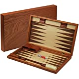 "Rosewood Backgammon Game Set 19"""