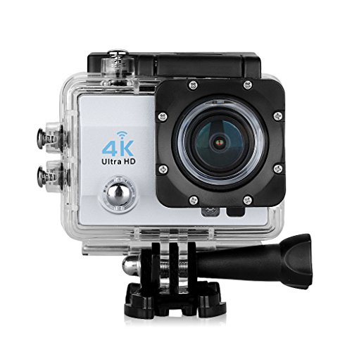 Floureon Q6 2.0 Inch 4K 16MP 170°WIFI 30M/98FT Waterproof Slow Motion Function Loop Recording Full HD DV Sports Camera (Silver) (10000 Fps compare prices)