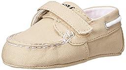 Ralph Lauren Layette Sander EZ Loafer (Infant/Toddler), Khaki, 3 M US Infant