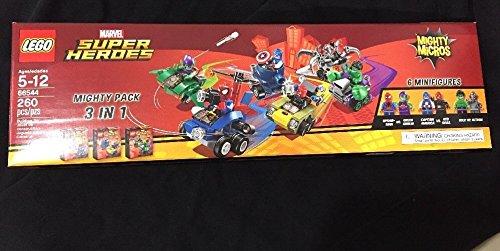 LEGO Marvel Super Heroes Mighty Micros 3 IN 1 Box Set - Spiderman vs Green Goblin, Captain America vs Red Skull, Hulk vs Ultron (Spiderman Vs Captain America compare prices)