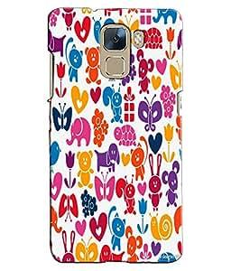 EU4IA Animal Kingdom Pattern MATTE FINISH 3D Back Cover Case For Huawei Honor...