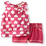 Carters Watch the Wear Baby-Girls Infant 2 Piece Hearts Top With Bow And Shorts