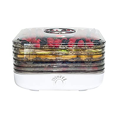 Ronco FD6000WHGE EZ-Store Turbo Dehydrator with 5 Trays, White by Ronco