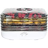 Ronco ロンコ 食品乾燥機 FD6000WHGE EZ-Store Turbo Dehydrator with 5 Trays, White【並行輸入】