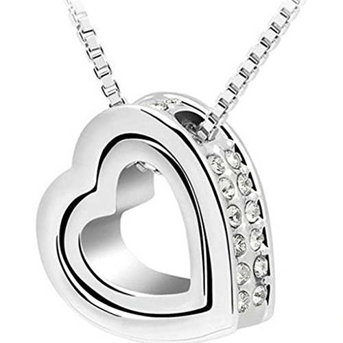 necklace-hatop-fashion-double-heart-crystal-rhinestone-eternal-love-silver-necklace-white