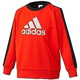 (アディダス)adidas KIDS TCOS SPORTS バックフリースクルースウェット BBQ59 AC6796 ボールドオレンジ/ブラック J160