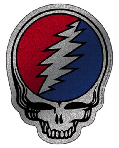 Licenses Products Grateful Dead Steal Your Face Glitter Sticker