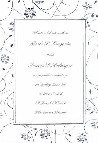 Wedding Invitation Kit Includes 50 Wedding Invitations 50 Outer White