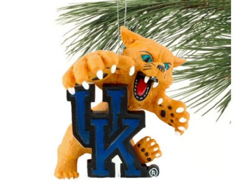 NCAA KENTUCKY WILDCATS BASKETBALL FOOTBALL SPORTS MASCOT CHRISTMAS ORNAMENT at Amazon.com