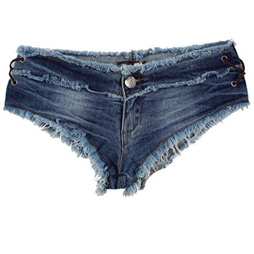 ZEARO donne sexy jeans vita bassa pantaloncini super corti estivi
