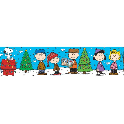 Eureka Peanuts Gang Christmas Deco Trim, Set of 12 Reusable Strips - 1