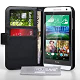 Yousave Accessories HTC Desire 610 Case Black PU Leather Wallet Cover