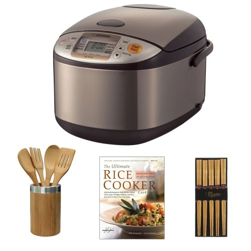 Zojirushi NSTSC18XA Micom Rice Cooker & Warmer + The Ultimate Rice Cooker Cookbook + Accessory Kit (Zojirushi Rice Cooker Hbc10 compare prices)