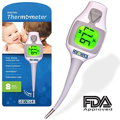 revieta-digital-thermometer-with-5-disposable-probe-covers-for-body-temp-reading