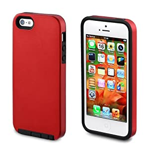 Acase Dual Layer iPhone 5 & 5s Case / Cover - Superleggera Pro Fit for New iPhone 5 & 5s (Red)